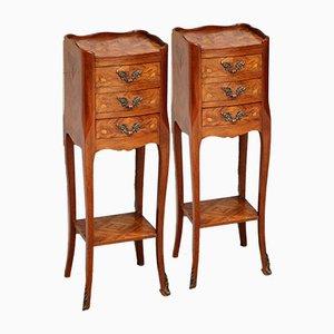 Tulipwood Bedside Cabinets, Set of 2