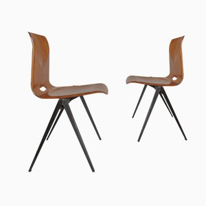 Industrielle Vintage Esszimmerstühle von Galvanitas, 1967, 2er Set