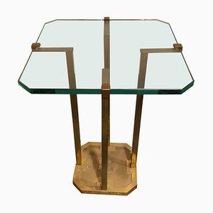 Mesa auxiliar modelo T18 de vidrio y latón de Peter Ghyczy