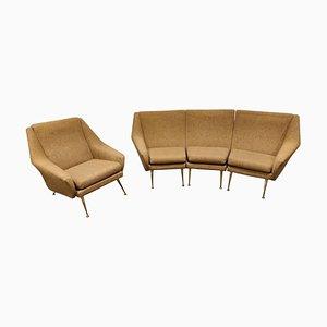 Mid-Century Italian Sofa Set, 1950s, Set of 4