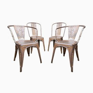 Vintage Tolix Dining Chairs, Set of 4
