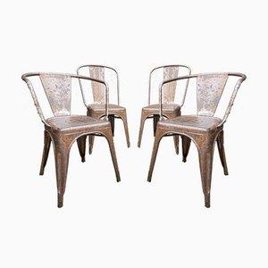 Vintage Tolix Esszimmerstühle, 4er Set