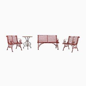 Muebles de jardín Arras de Grassin & Savior. Juego de 4
