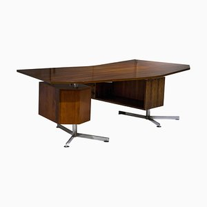 Modular Italian Mahogany Desk, Italy, 1950s