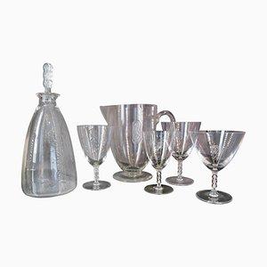 Guebwiller Glasses from Lalique, France, Set of 39