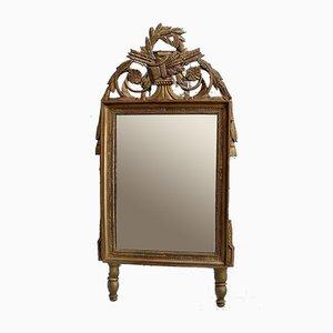Spiegel im goldenen Louis XVI Stil, 19. Jahrhundert