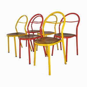 Industrial Chairs by René Herbst, Set of 6