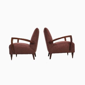 Art Deco Armchairs by Pier Luigi Colli, 1940s, Set of 2
