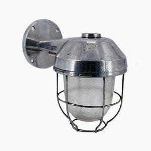 Lampada da parete grande da esterno in alluminio con vetro spesso