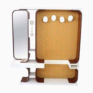 Mobiletto vintage con appendiabiti, anni '60