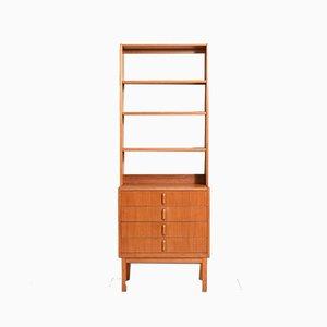 Scandinavian Teak Bookcase with Drawers by Bertil Fridhagen for Bodafors