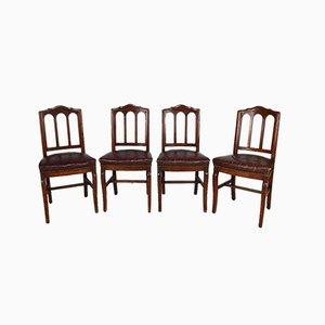 Französische Restauration Stühle, 19. Jahrhundert, 4er Set