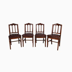 French Restoration Period Chairs, 19th Century, Set of 4