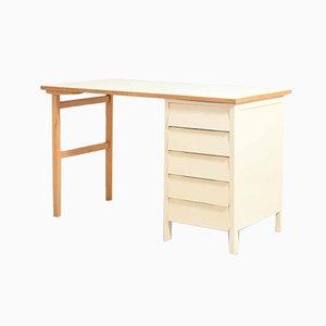 Skandinavischer Vintage Teak und Eiche Schreibtisch mit Schubladen, 1970er