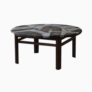 Mid-Century Stoneware & Rosewood Coffee Table by Ole Bjorn Krüger, 1960s
