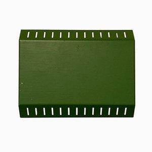 Scandinavian Adjustable Green Wall Light, 1950s