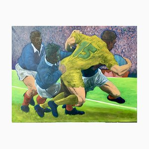Rugbymans, Oil on Canvas, 2000s, France