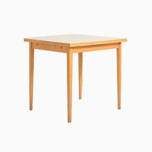 Table Carrée Scandinave Vintage avec Plateau en Formica