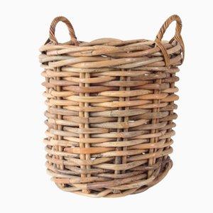 Vintage Rattan Wicker Basket