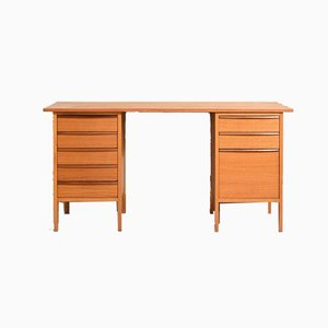 Scandinavian Vintage Desk with 8 Drawers