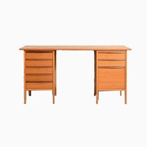 Skandinavischer Vintage Schreibtisch mit 8 Schubladen