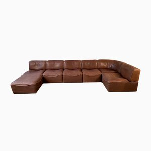 Vintage DS 15 Sofa from de Sede, Set of 7