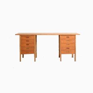 Skandinavischer Schreibtisch aus Teak mit Zwei Schubladen,