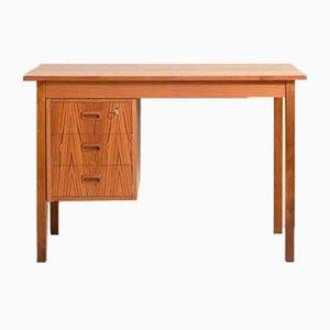 Vintage Teak Schreibtisch mit Schubladen