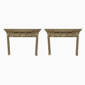 Large English Fire Surrounds, Set of 2