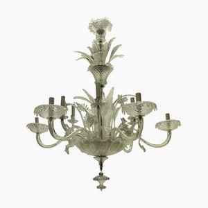 Lampadario grande in vetro di Murano, anni '30
