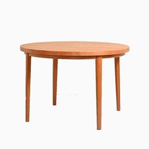 Runder Dänischer Teak Tisch, 1950er