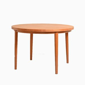 Table Ronde en Teck, Danemark, 1950s