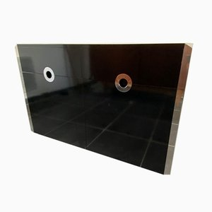 Black Lacquered Bottom Sideboard by Willy Rizzo for Mario Sabot, 1973