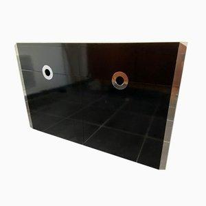 Schwarz Lackiertes Bottom Sideboard von Willy Rizzo für Mario Sabot, 1973
