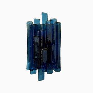 Applique in vetro di Murano blu, anni '50