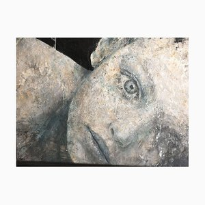 Tomorrow - Modern - Italian Painting - Oil and Enamel on Wood - Loris Lombardo