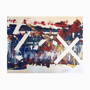 Französische Zeitgenössische Kunst, Discovery Vitalität, Jeremiah Revourgeard, Acryl auf Papier