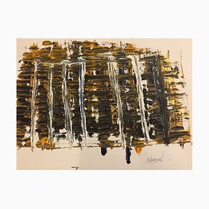 Arte contemporáneo francés, Universal Energy, Jeremiah Rebourgeard, acrílico sobre papel