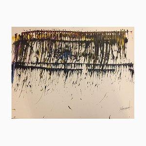 Arte contemporáneo francés, The Glide Transmetrice, Jeremiah Rebourgeard, acrílico sobre papel