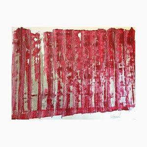 Zeitgenössische Französische Kunst, Die Wand, mit der Sie sprechen, Jeremiah Rebourgeard, Acryl auf Papier