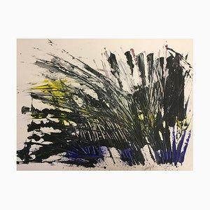 Französische Contemporary Art, Energiedurchlass, Jeremiah Revourgeard, Acryl auf Papier