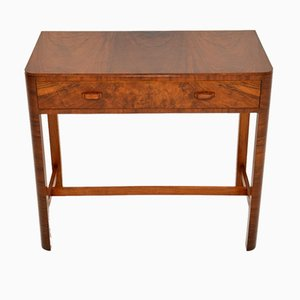 Art Deco Figured Walnut Side Table by Heal's