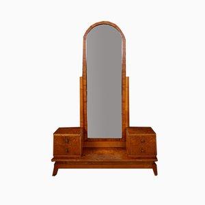 Tocador Art Déco de chapa de madera de arce