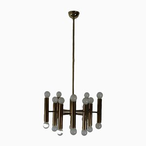 Brass Ceiling Lamp from Doria, 1970s