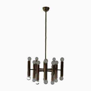 Messing Deckenlampe von Doria, 1970er
