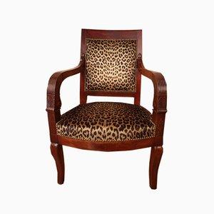 Empire Stil Armlehnstuhl aus Mahagoni