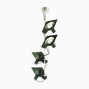 Italienische Verstellbare Hängelampe mit Vier Leuchten von Bj Milano Design, 1970er