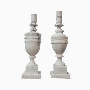 Lámparas de mesa suecas Mid-Century de mármol. Juego de 2