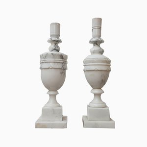 Mid-Century Swedish Marble Table Lamps, Set of 2