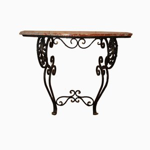 Wrought Iron Console, 1940s